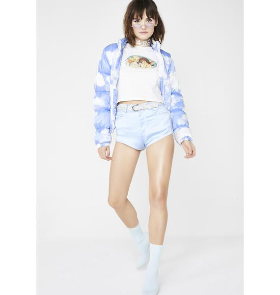 Sugar Thrillz Angel Lush Satin Shorts