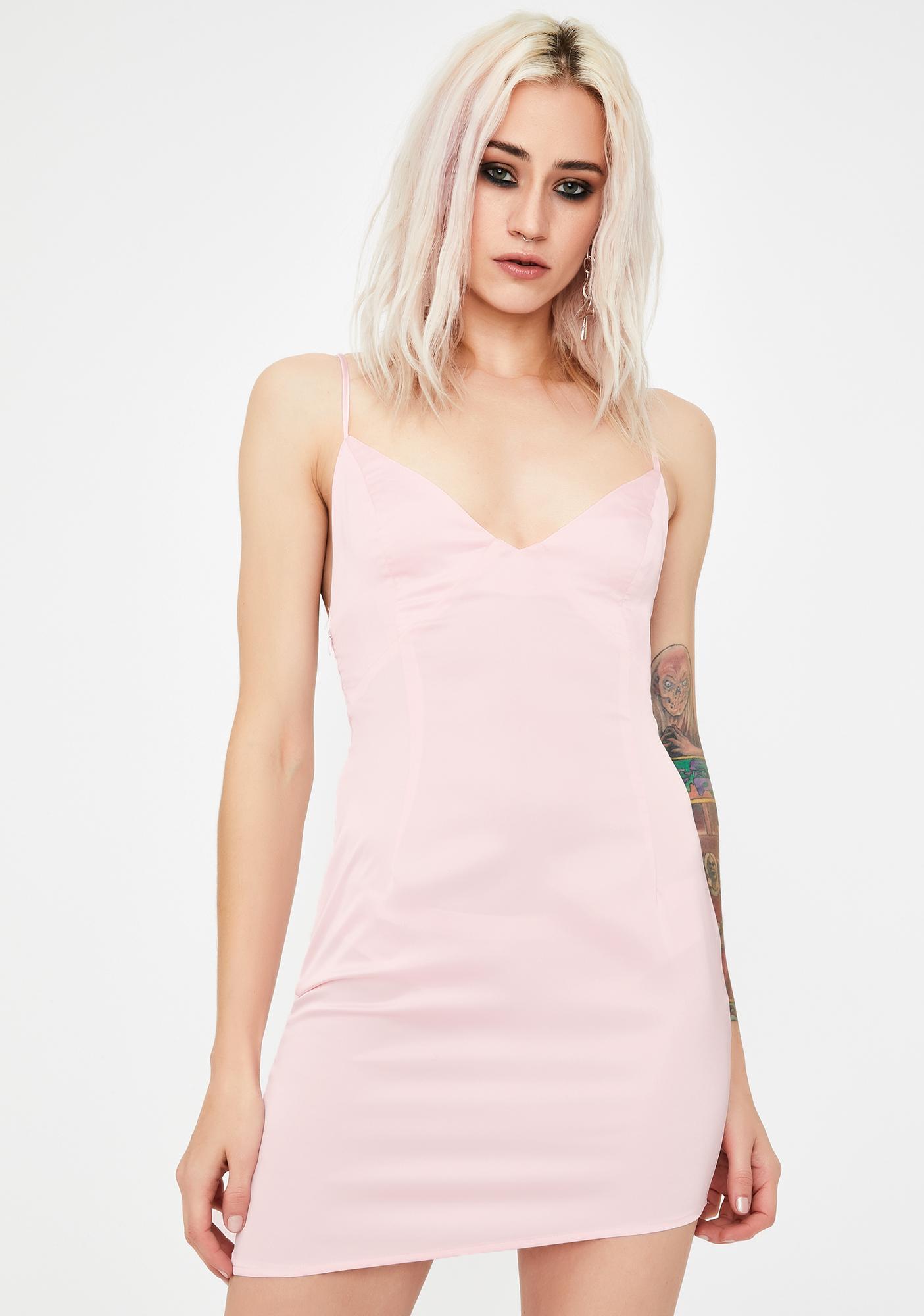 No Dress Satin Asymmetric Mini Dress