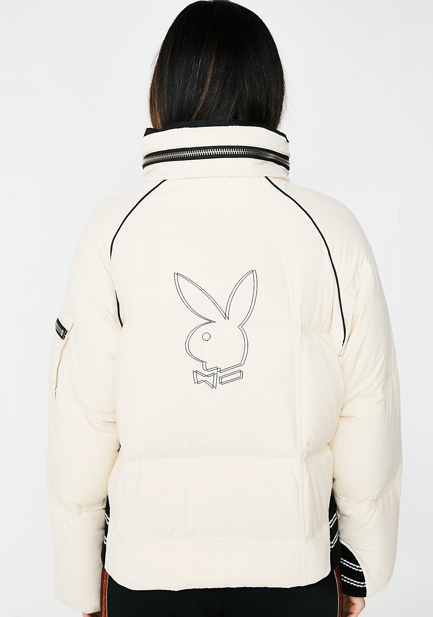 Vintage Playboy Puffer Jacket
