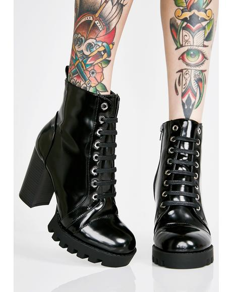 Stomp It Out Lace Up Booties