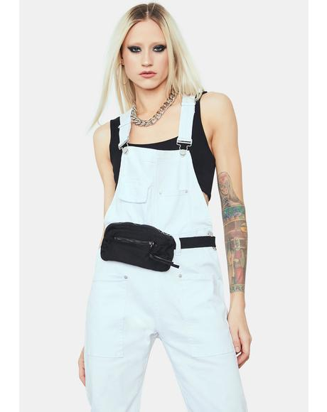 Boo She's Not Me Denim Overalls