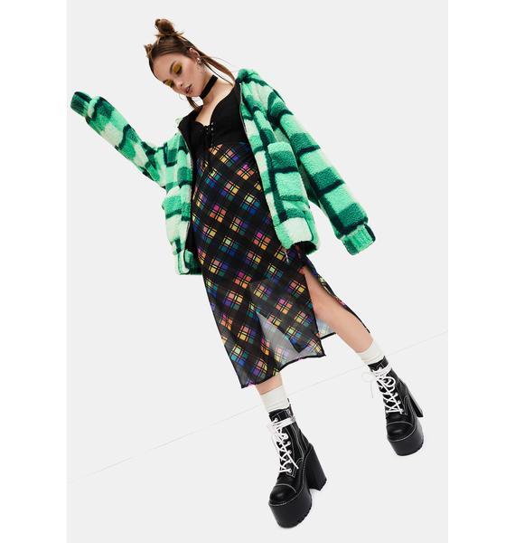 dELiA*s by Dolls Kill Runaway Bliss Plaid Midi Dress