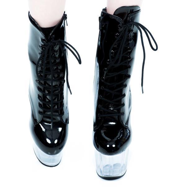 Pleaser USA Adore Stiletto Platform Ankle Boot