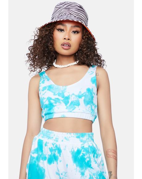 Aqua Gotta Get My Way Tie Dye Tank