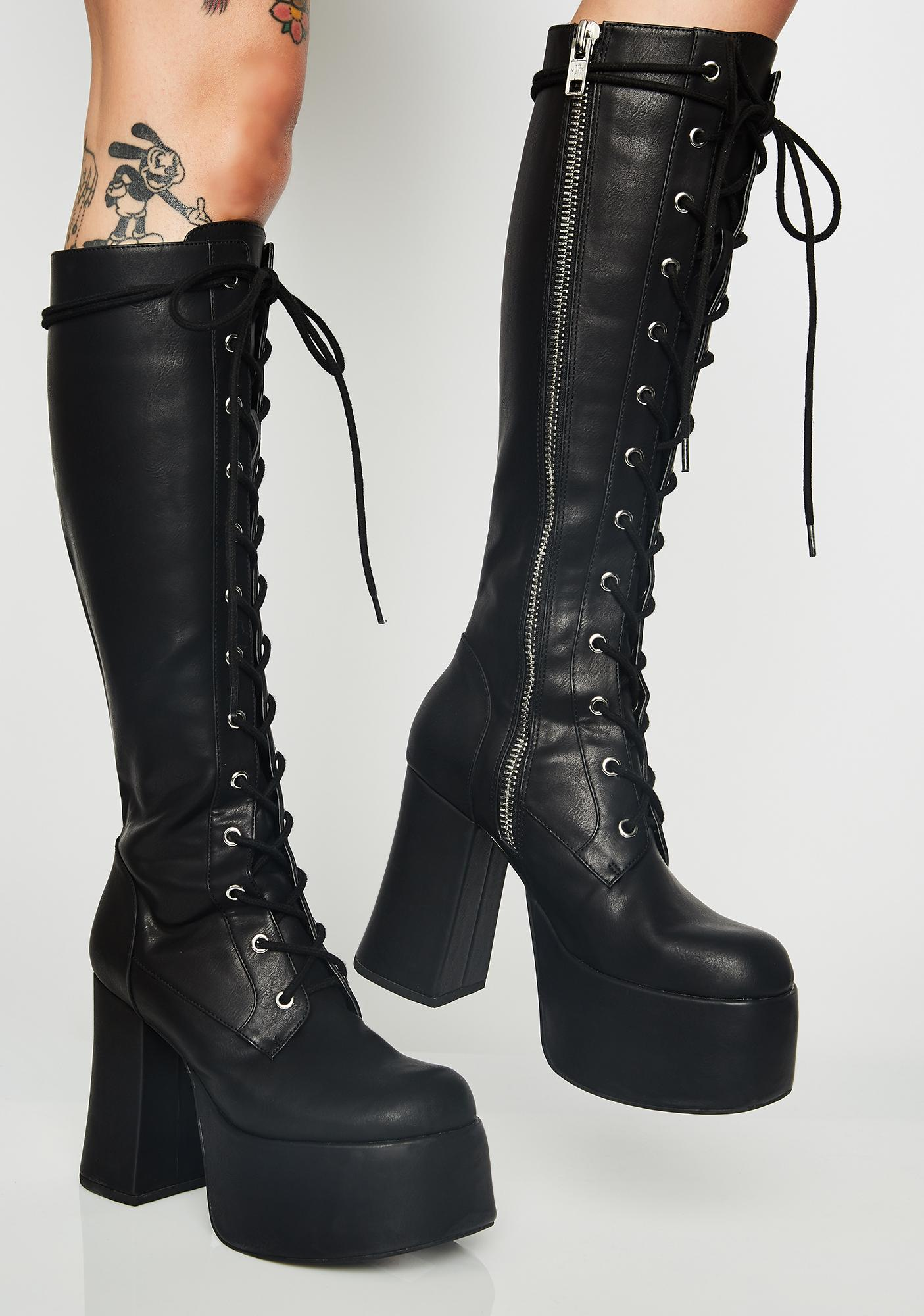 32bd7821fdbd58 Current Mood Twisted Sis Platform Boots