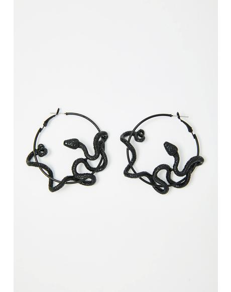 Medusa's Curse Hoop Earrings