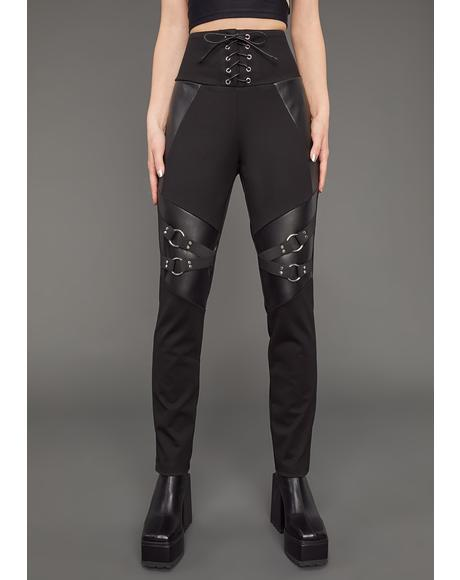 Boss Mode Lace-Up Skinny Pants