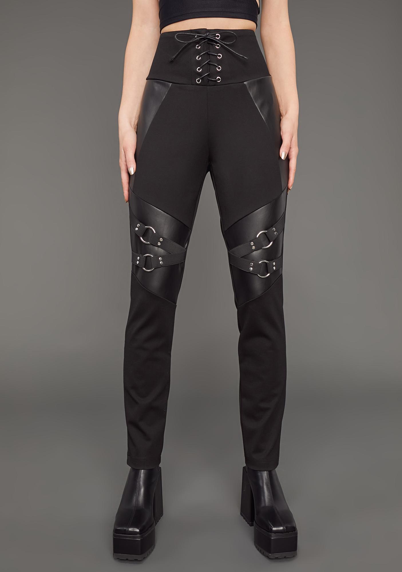 Poster Grl Boss Mode Lace-Up Skinny Pants