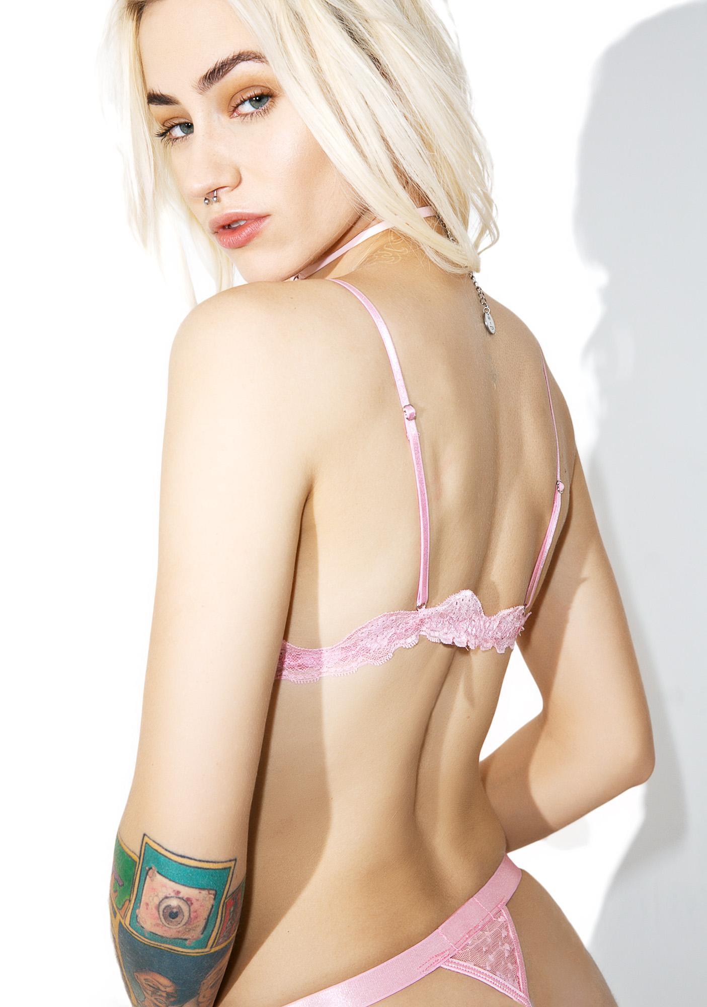 Sugar Thrillz Sweet Cream Lace Bralette