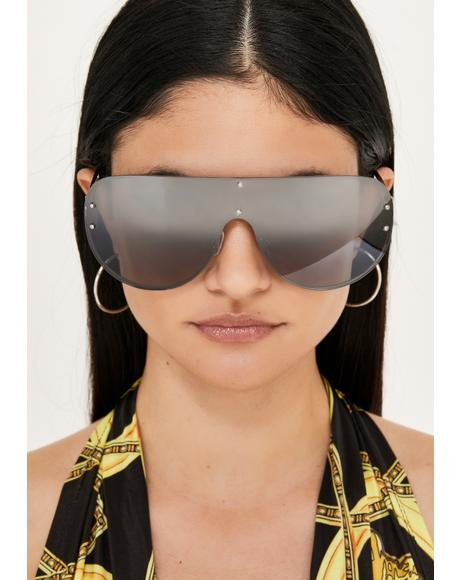 Chrome Realest Bish Aviator Sunglasses