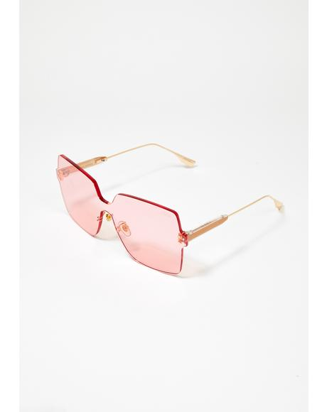 Pink Big Dipper Oversized Sunglasses