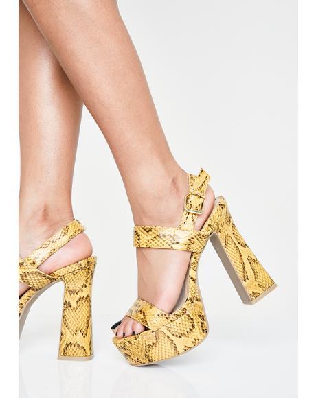 Caution Slither Sis Platform Heels