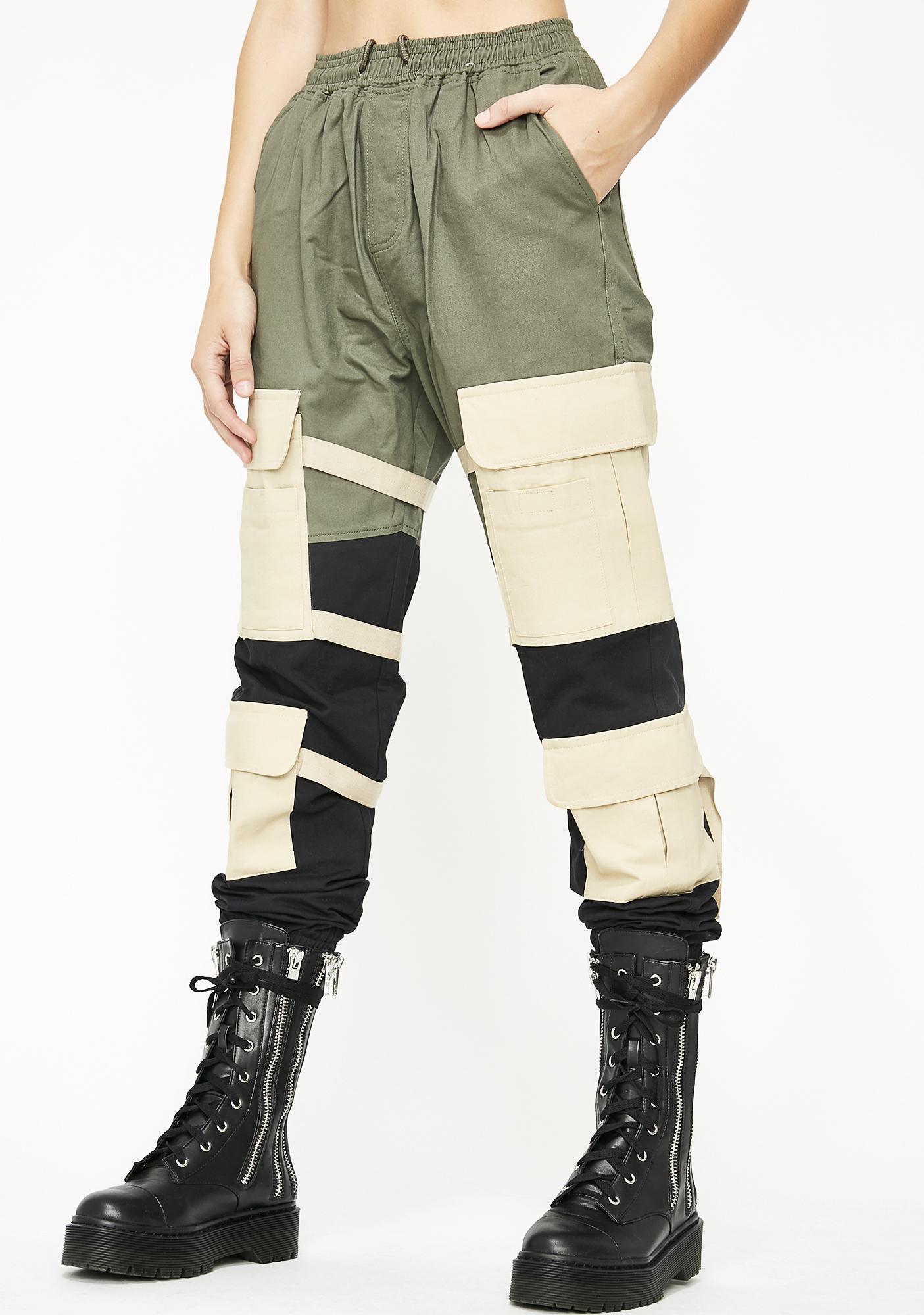 e8e7126441 Triple Colorblock Cargo Pants | Dolls Kill