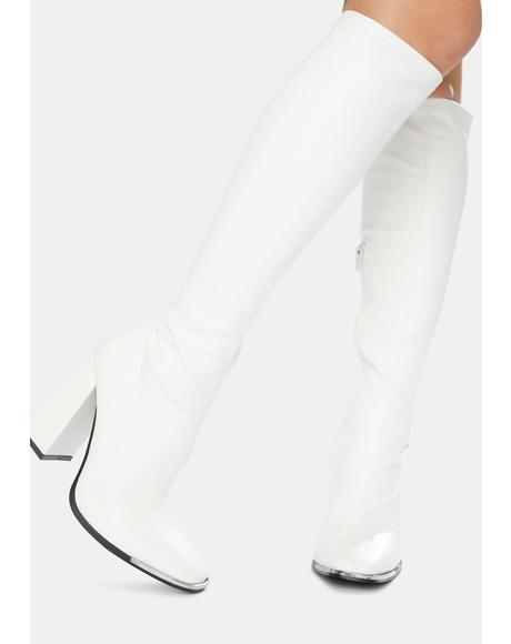 Caryn Knee High Heeled Boots