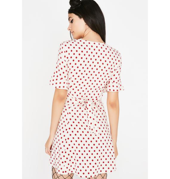 Good Manners Polka Dot Dress