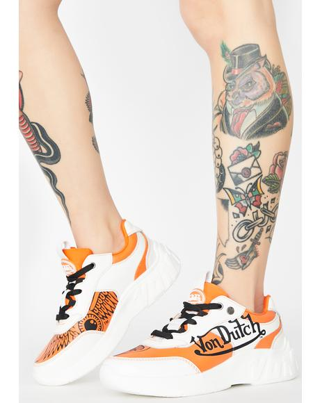 Orange Fairfax Classic Sneakers