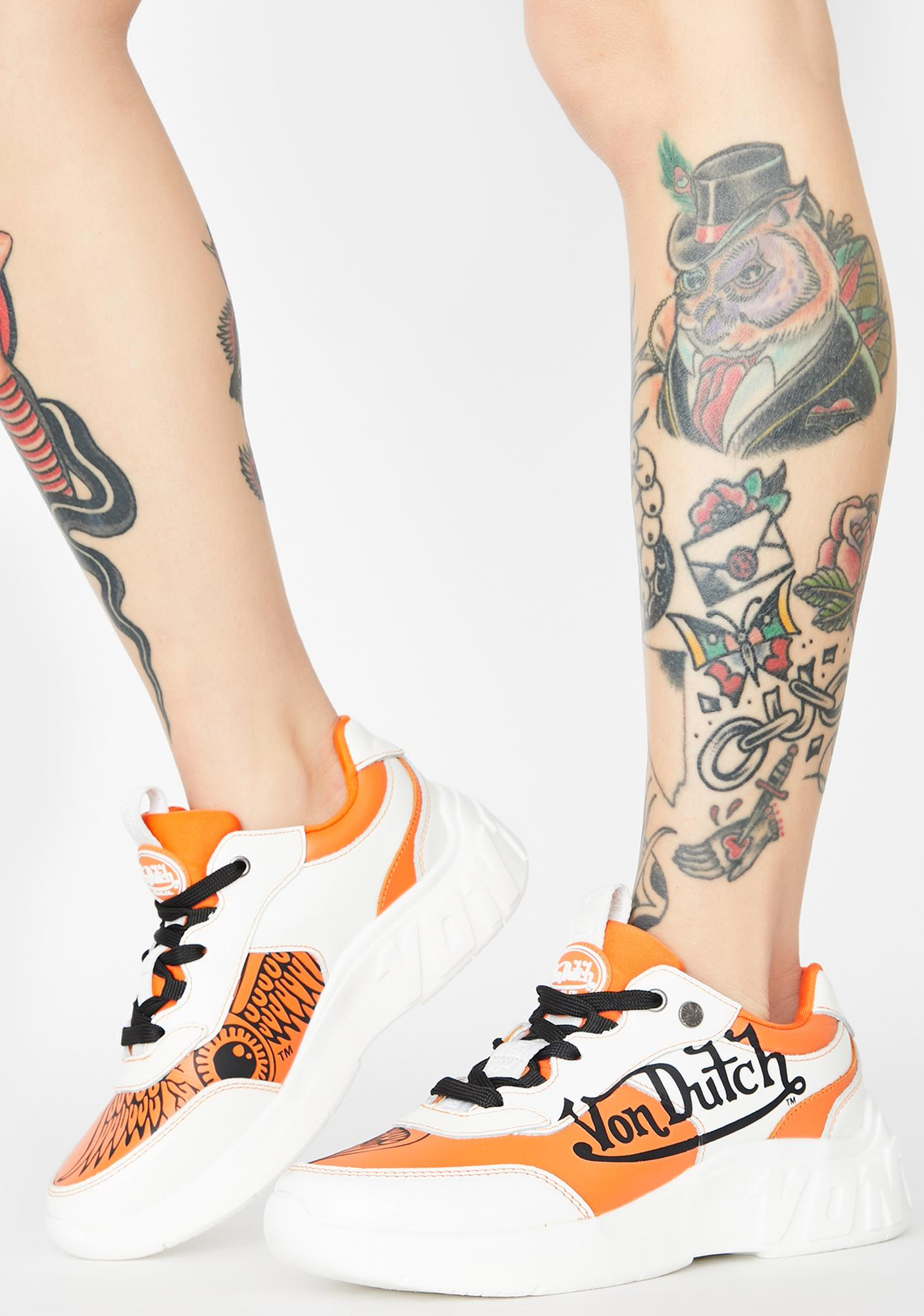 Von Dutch Orange Fairfax Classic Sneakers