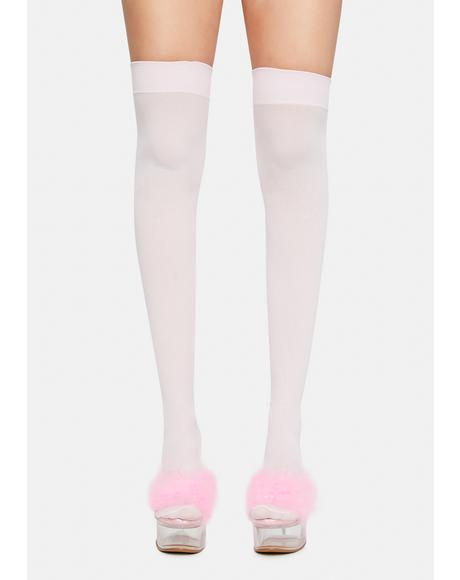 Blush Angel Of Mine Sheer Thigh Highs