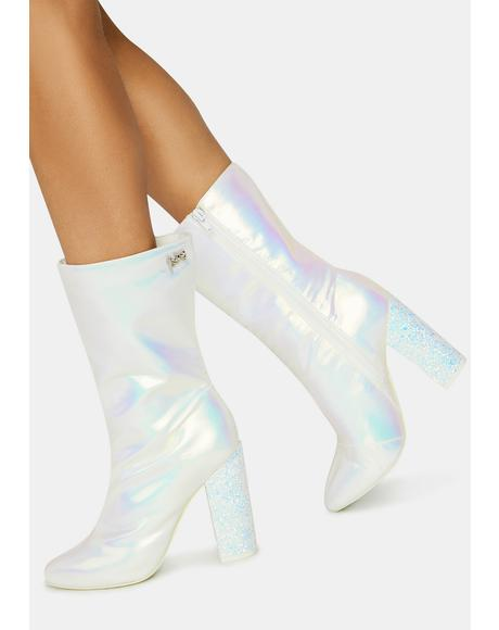 White Fairy Mini Boots