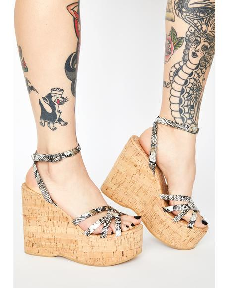 Snake Cupid Wedge Heels