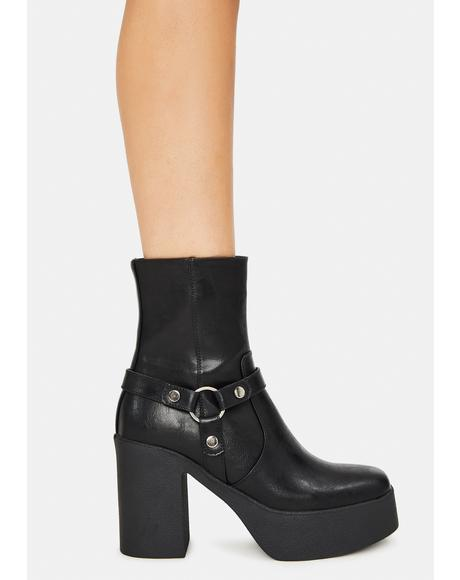 Space Girl Platform Ankle Boots