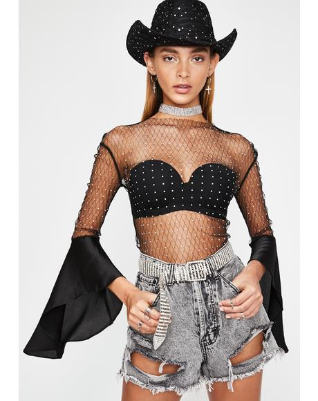 Ring the Belle Mesh Top