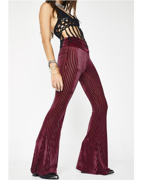 Lit Shakti Chic Velvet Bell Bottoms