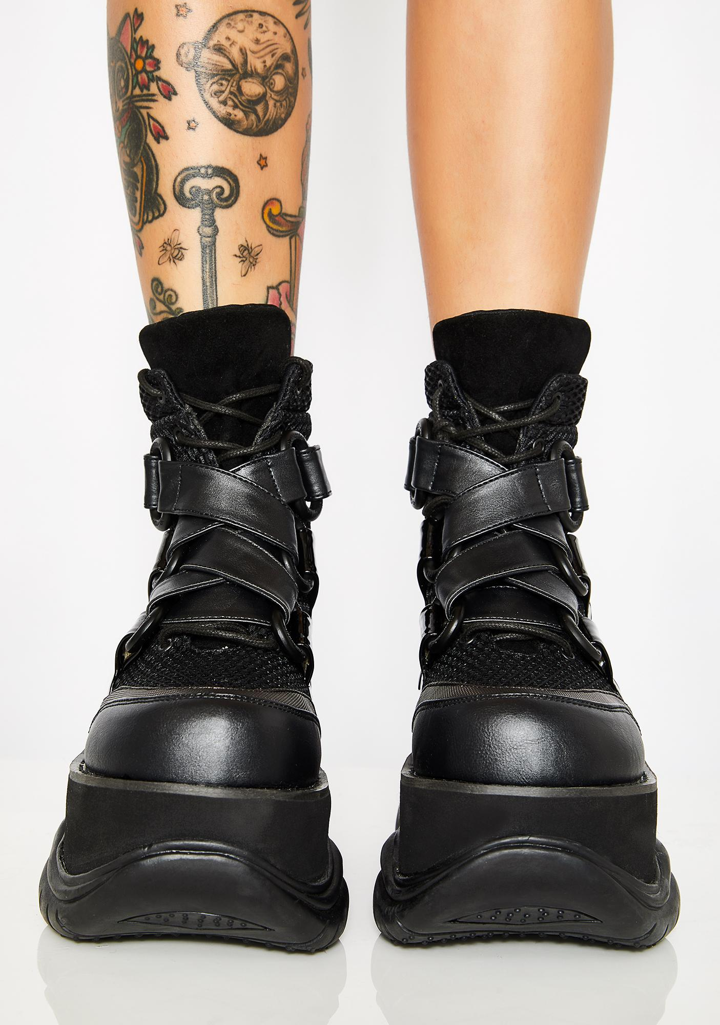 Demonia New Hacker Platform Boots