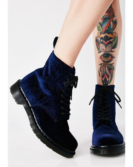1460 Brocade 8 Eye Boots