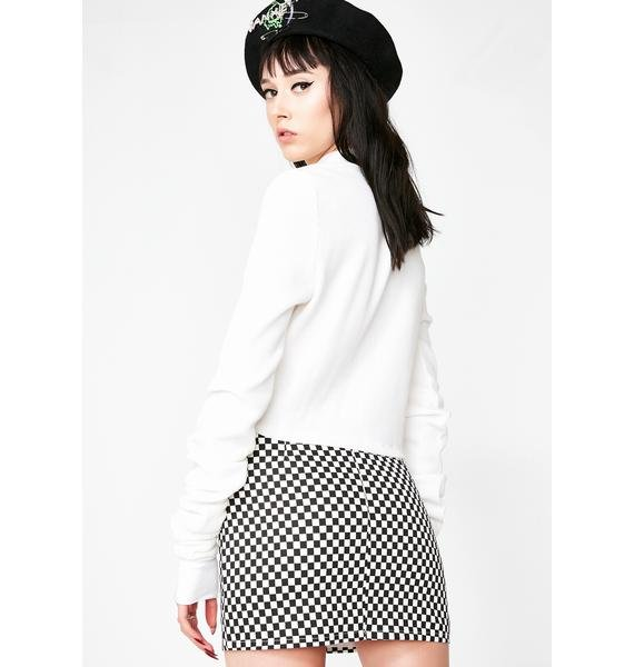 Dark Pleasantly Surprised Mini Skirt