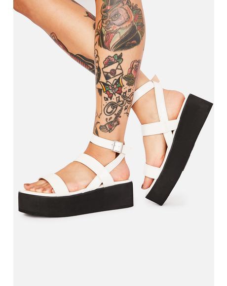 Make A Scene Platform Sandals