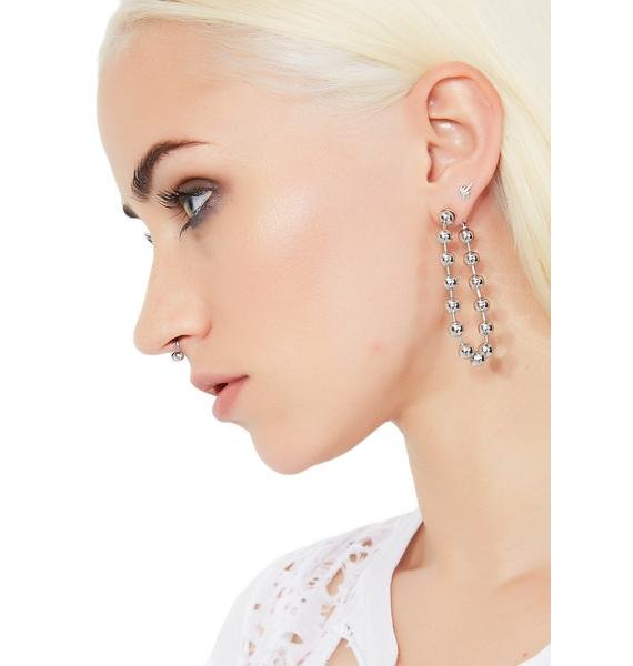 Ballin' Chain Earrings