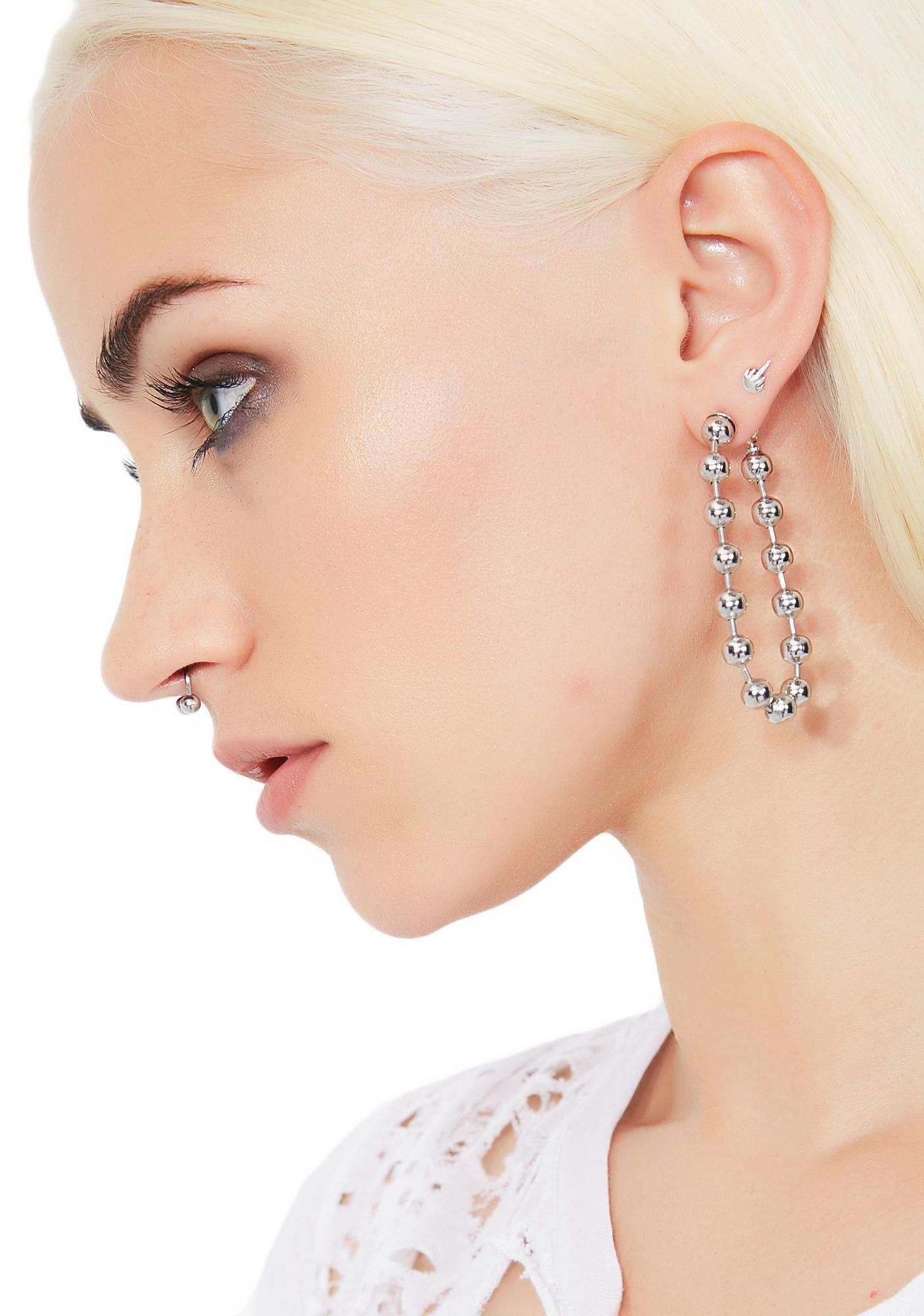 Ballin' Chain Earrings