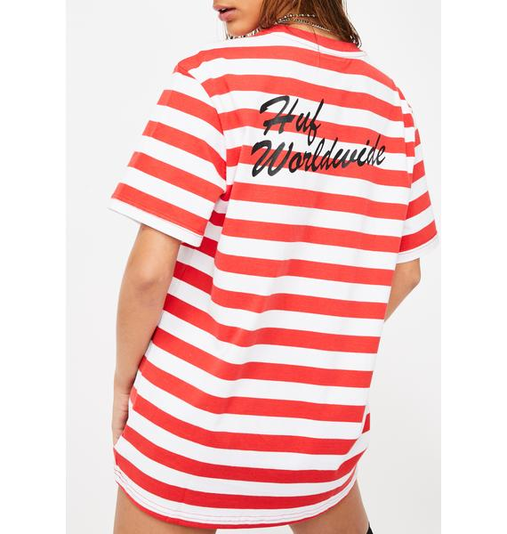 HUF Striped Betty Boop Graphic Tee