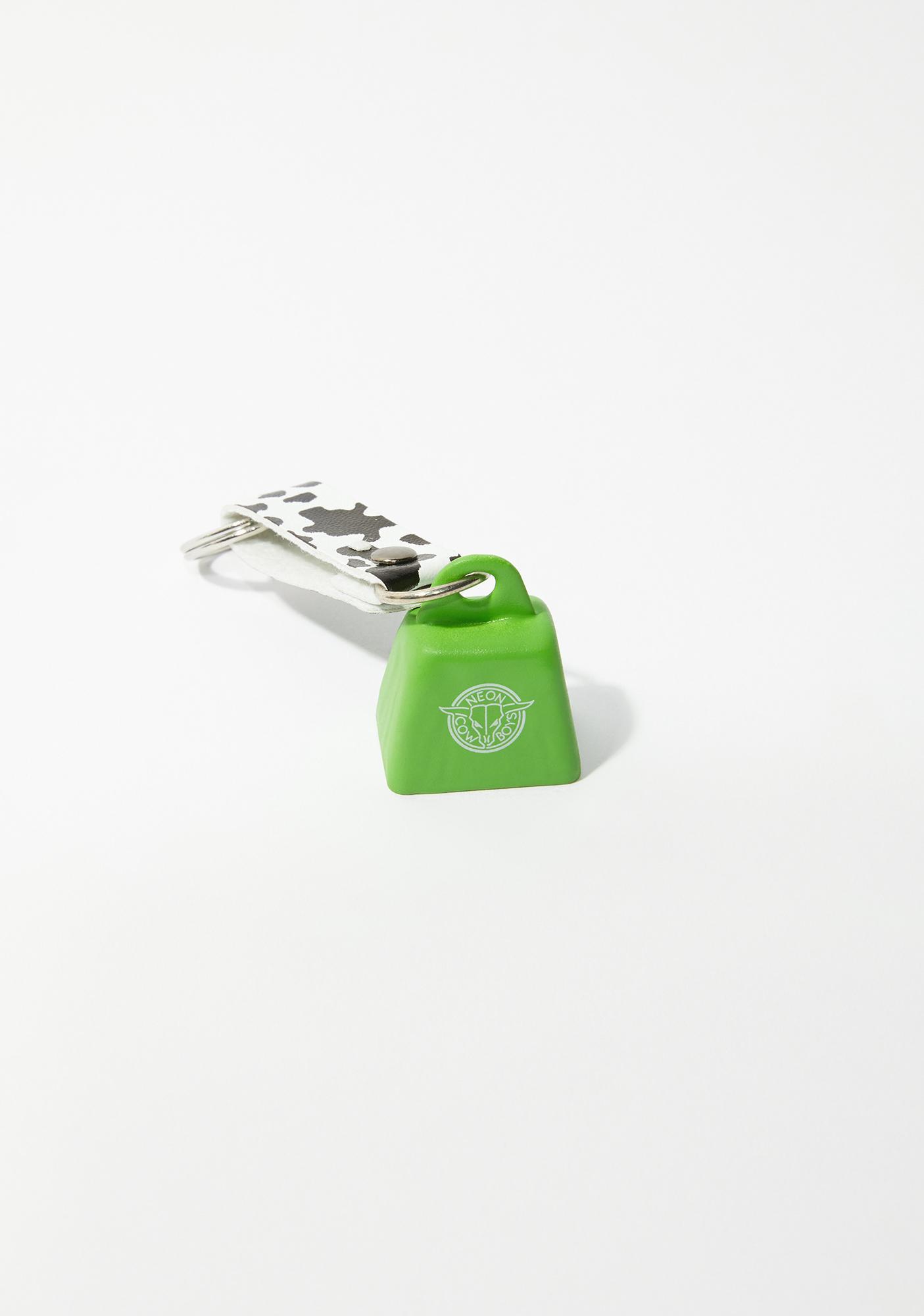 Neon Cowboys Green Mini Cowbell Keychain