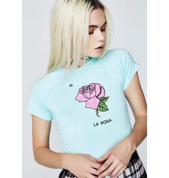 O Mighty La Rosa Crop Tee