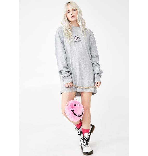 Lazy Oaf Mr Lazy Long Sleeve Graphic Tee