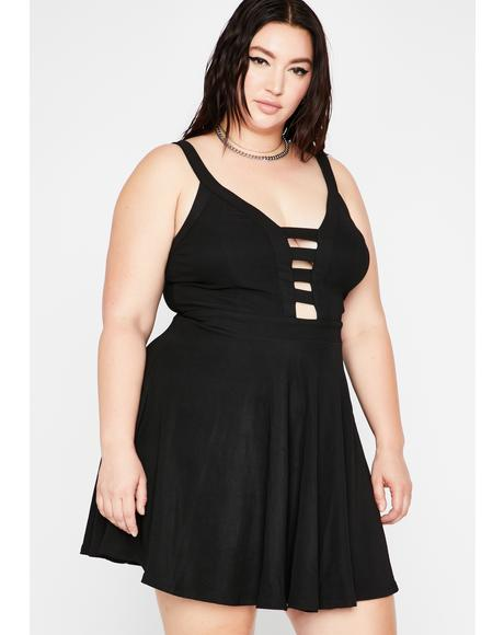 Night Off Mood Cutout Dress