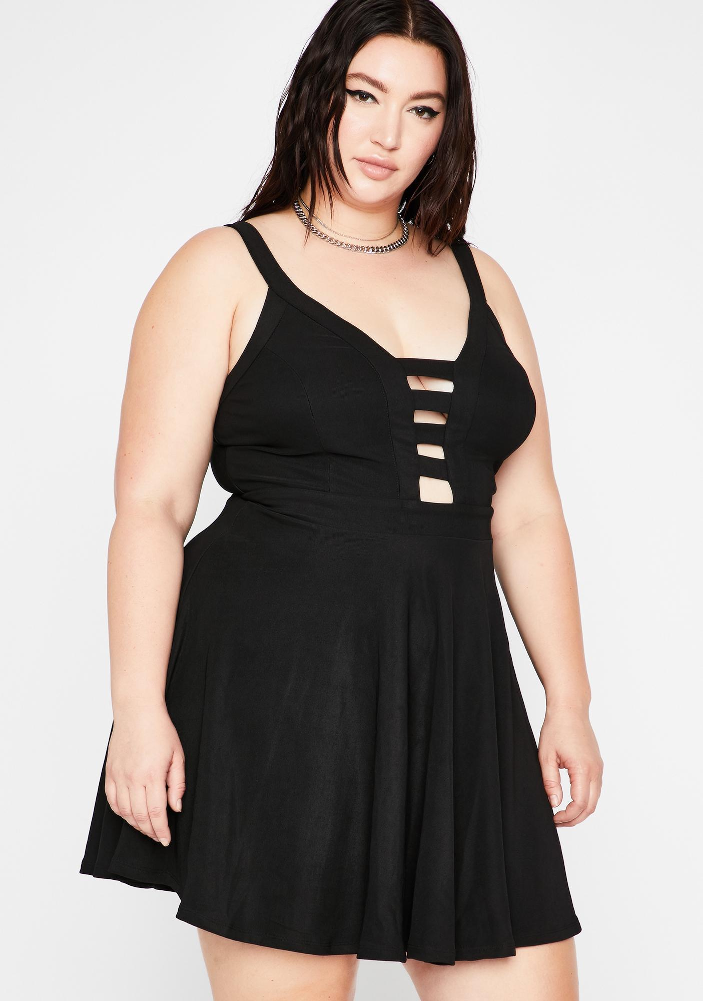 Night Off Mood Cutout Dress