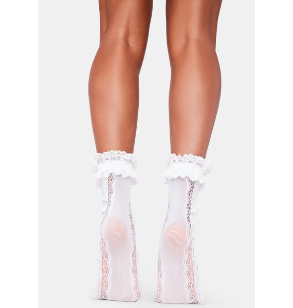 Pure Romantic Scene Sheer Socks