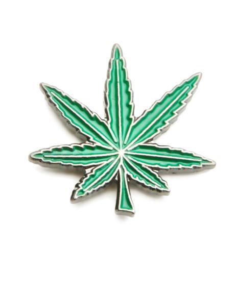 Green Crack Leaf Pin