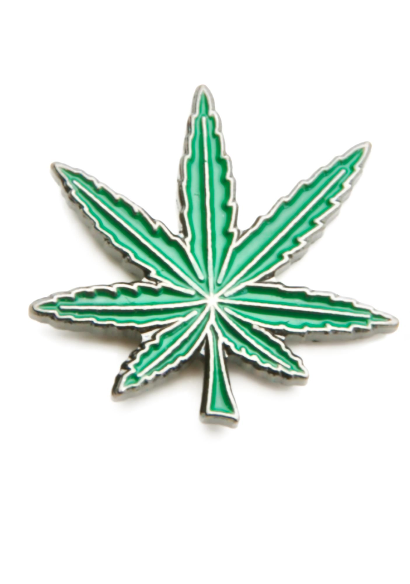 Blunted Objects Green Crack Leaf Pin