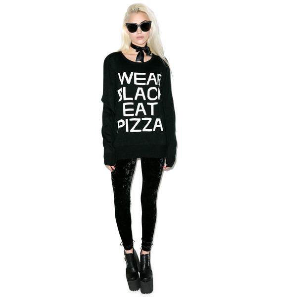 Killstar Pizza Knit Sweater