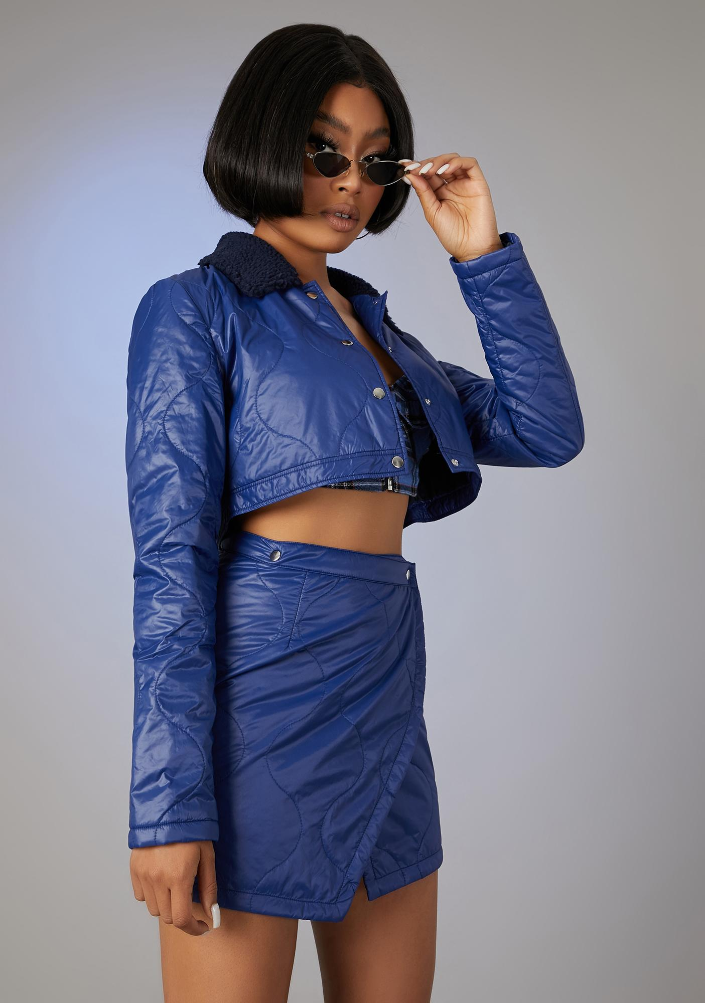 Poster Grl In The Press Quilted Skirt Set