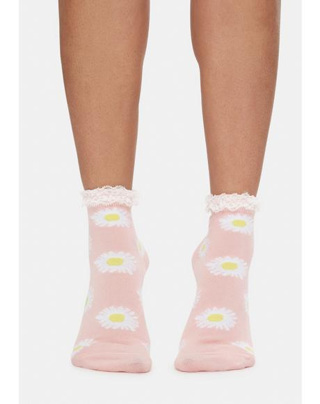Rose Daisy Fields Socks