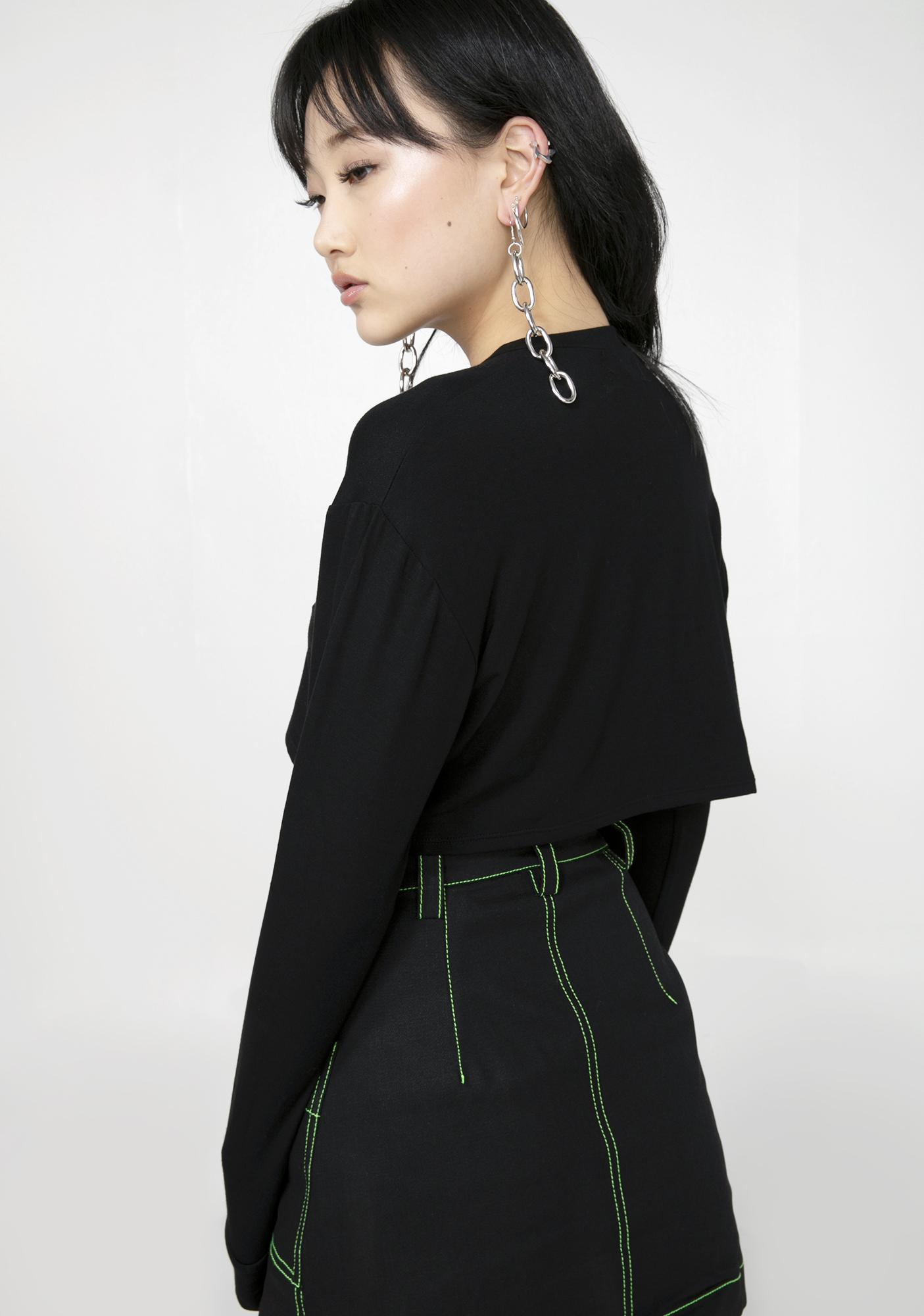 O Mighty Cucci Catdawg Cropped Pullover