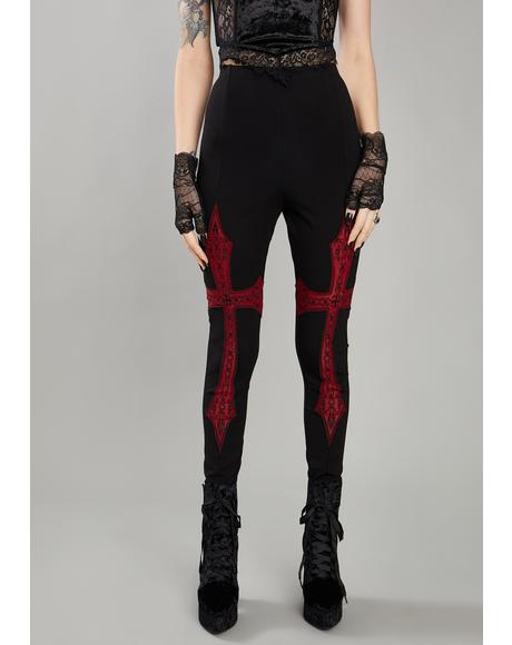 Troubled Mind Printed Leggings