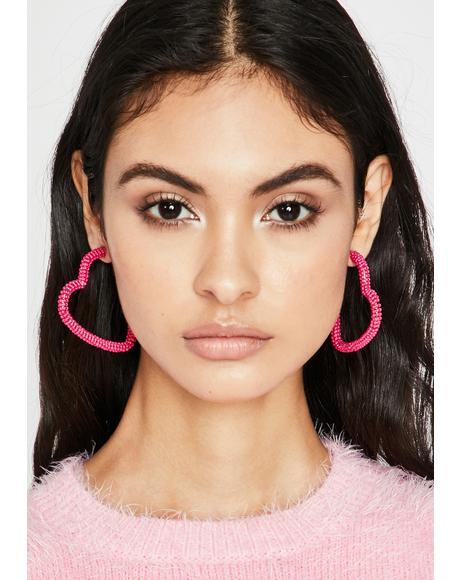 Candy Heart N' Soul Beaded Earrings