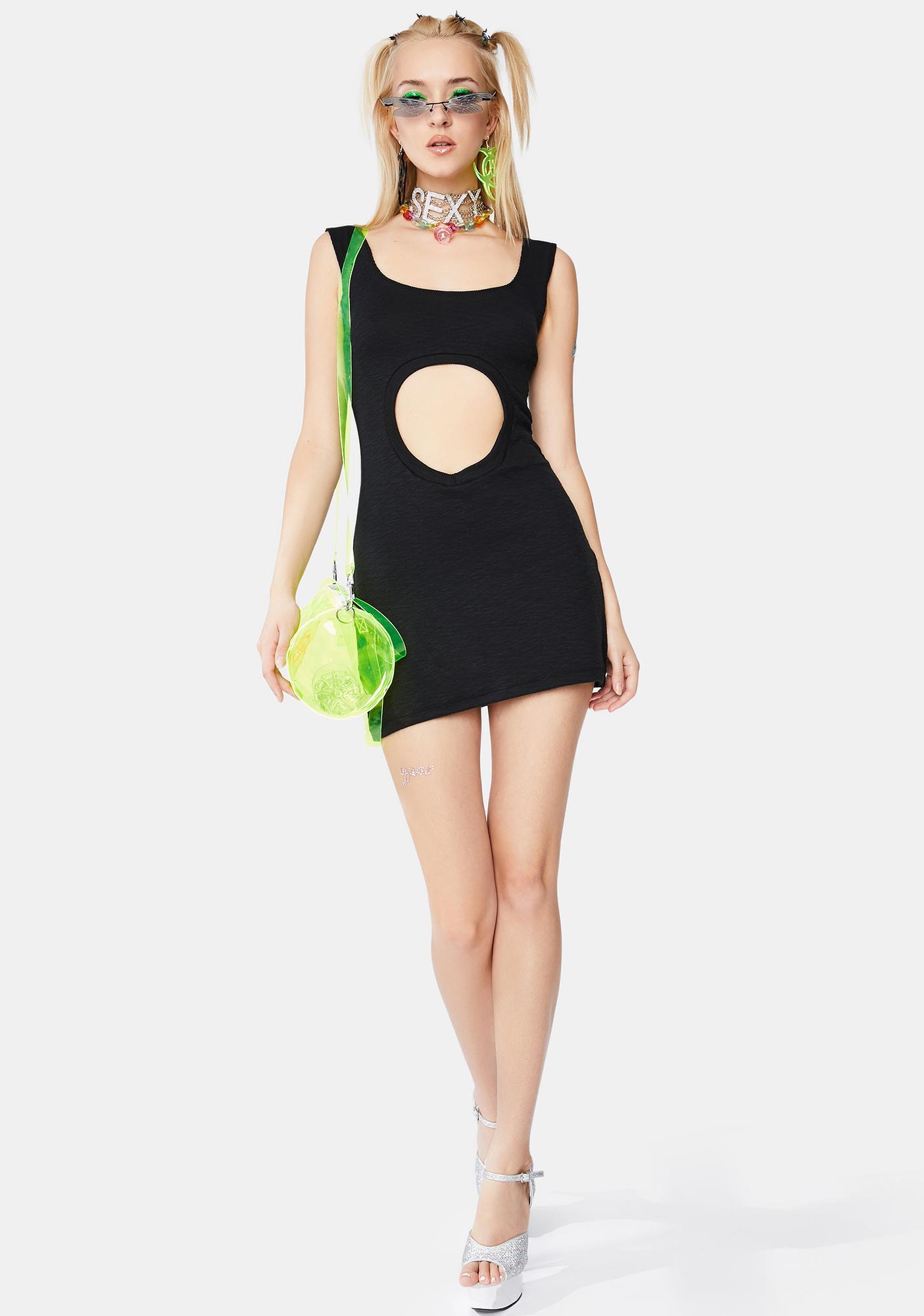 Ivy Berlin Black Leeloo Cut Out Dress