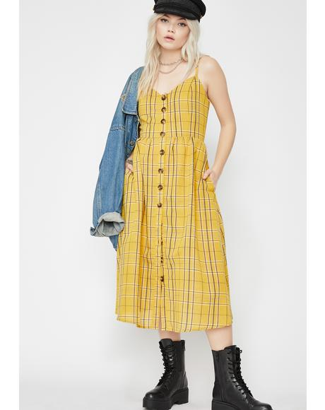 Honey Sunshine Midi Dress